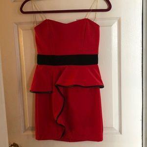 Peplum red dress